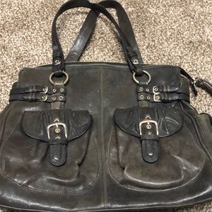 Junior Drake Leather Purse Brown Metallic